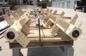 Paddle mixer shafts